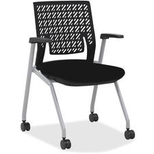 MLN KTX1SBBLK Mayline Flex Back/Flip Arms Thesis Training Chair MLNKTX1SBBLK