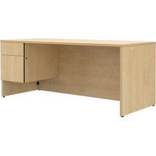 LAS4YS3672FT - Lacasse Concept 400E Pedestal Desk - 2-Drawer