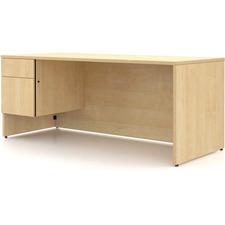 LAS4YS4272FAT - Lacasse Concept 400E Pedestal Desk - 2-Drawer