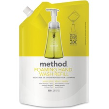 MTH 01365 Method Products Lemon Mint Foam Hand Wash Refill MTH01365