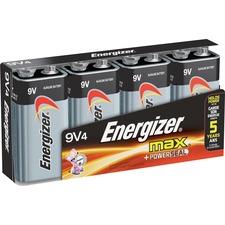 EVE 522FP4CT Energizer Max Alkaline 9-Volt Battery EVE522FP4CT