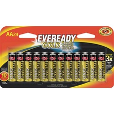 EVE A91BP24HTCT Energizer Eveready Gold Alkaline AA Batteries EVEA91BP24HTCT