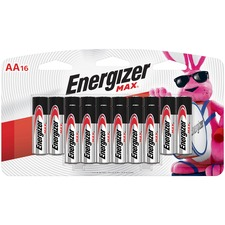EVE E91LP16CT Energizer Max Alkaline AA Batteries EVEE91LP16CT