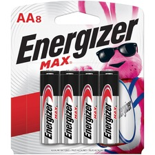 EVE E91MP8CT Energizer Max Alkaline AA Batteries EVEE91MP8CT