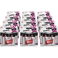 EVE E95BP4CT Energizer Max Alkaline D Batteries EVEE95BP4CT