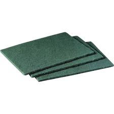 "Scotch-Brite Scrubbing Pads - 7"" Height x 6"" Width x 9"" Depth - 60/Carton - Synthetic - Green"