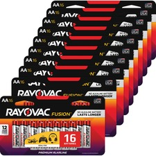 RAY 81516LTFUSCT Rayovac Fusion Advanced Alkaline AA Batteries RAY81516LTFUSCT