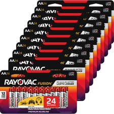 RAY 81524LTFUSCT Rayovac Fusion Advanced Alkaline AA Batteries RAY81524LTFUSCT