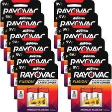 RAY A16042TFUSCT Rayovac Fusion Advanced Alkaline 9V Batteries RAYA16042TFUSCT
