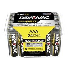 RAY ALAAA24PPJCT Rayovac Ultra Pro Alka AAA24 Batteries Storage Pak RAYALAAA24PPJCT