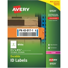 AVE 61531 Avery Durable ID Labels AVE61531