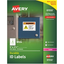 AVE61532 - Avery&reg Permanent Durable ID Labels with TrueBlock Technology