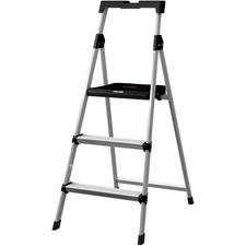DAD BXL226003S Louisville Ladders 3' Steel Step Stool w/Slots DADBXL226003S