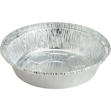 "Genuine Joe Round Aluminum Food Container Set - 7"" (177.80 mm) Diameter Food Container, Lid - Aluminum - Cooking, Serving - Silver"