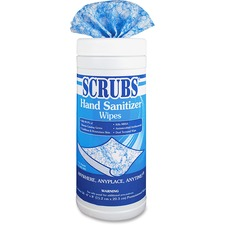 ITW 90956CT ITW Scrubs Antimicrobial Hand Sanitizer Wipes ITW90956CT