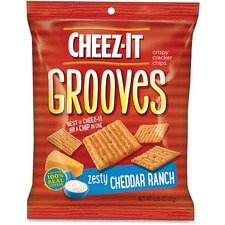 KEB93646 - Cheez-It Grooves&reg Zesty Cheddar Ranch