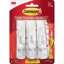 MMM 170016ES 3M Command Strip Adhesive Hooks MMM170016ES