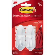 Command Adhesive Medium Designer Hooks