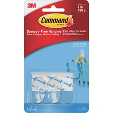 MMM 17092CLRES 3M Command Adhesive Strips Hanging Small Hooks MMM17092CLRES