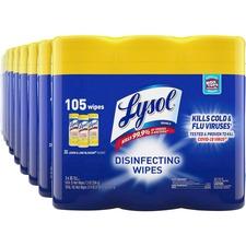 RAC 82159CT Reckitt Benckiser Lysol Lemon Disinfect Wipes Pack RAC82159CT