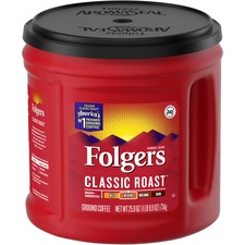FOL 20421 Folgers Canister Classic Roast Coffee  FOL20421