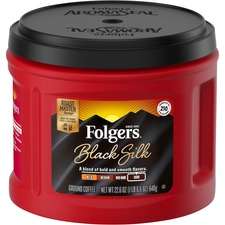 FOL 20540 Folgers Black Silk Dark Ground Coffee FOL20540