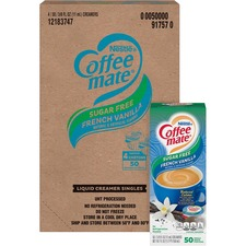 Nestlé® Coffee-mate® Coffee Creamer Sugar-Free French Vanilla - liquid creamer singles