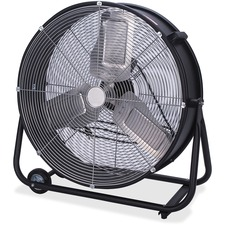 "Royal Sovereign Commercial Drum Fan 24"" - 2 Speed - Carrying Handle, Wheel, 360° Swivel - 24"" (609.60 mm) Height - Metal - Black, Gray"