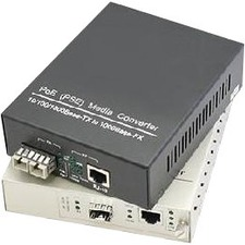 AddOn 10/100/1000Base-TX(RJ-45) to 1000Base-MX(ST) MMF 1310nm 2km IEEE802.3at/48V/1.0A/50W POE Media Converter