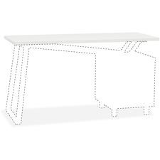 MLN 1001VTGW Mayline V-desk Glass Top MLN1001VTGW