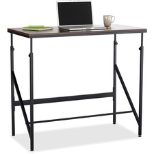 "Safco Laminate Tabletop Standing-Height Desk - Rectangle Top - 48"" Table Top Width x 24"" Table Top Depth - 50"" Height - Assembly Required - Black"