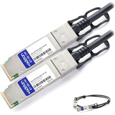 AddOn Dell DAC-QSFP28-100G-5M Compatible TAA Compliant 100GBase-CU QSFP28 to QSFP28 Direct Attach Cable (Passive Twinax,