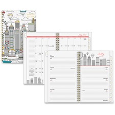 AAG1017200A - At-A-Glance Cityscape Academic Weekly/Monthly Planner