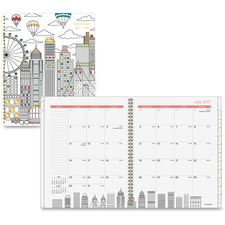 AAG1017900A - At-A-Glance Cityscape Academic Professional Monthly Planner