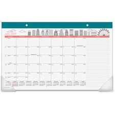 AAGD1017705A - At-A-Glance Paint the Town Academic Compact Monthly Desk Pad