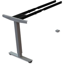 LLR 99851 Lorell Sit/Stand Desk Silver Third-leg Add-on Kit LLR99851
