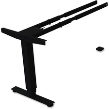 LLR 99852 Lorell Sit/Stand Desk Black Third-leg Add-on Kit LLR99852