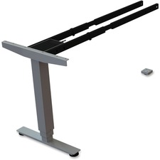 LLR 99853 Lorell Sit/Stand Desk Silver Third-leg Add-on Kit LLR99853