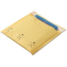 """Sparco CD/DVD Cushioned Mailers - Multipurpose - 7 1/4"""" Width x 8"""" Length - Self-sealing - Kraft - 25 / Pack - Gold"""