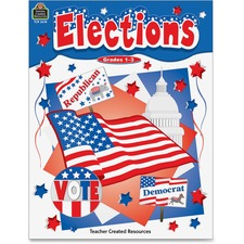 TCR 2618 Teacher Created Res. Grades 1-3 US Elections Book TCR2618