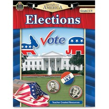 Teacher Created Resources Grade 4-8 America Elections Book Politics Printed Book