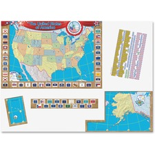 TCR 4403 Teacher Created Res. US Map Bulletin Board Display TCR4403