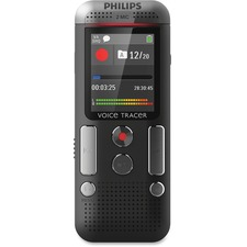 "Philips Voice Tracer Audio Recorder (DVT2510/00) - 8 GBmicroSD Supported - 1.8"" LCD - MP3, WAV - Headphone - 2280 HourspeaceRecording Time - Portable"