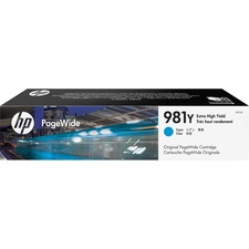 HP 981G Original Ink Cartridge - Cyan - Page Wide - Extra High Yield - 16000 Pages - 1 Each