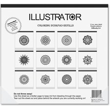 AUA16130 - Aurora Illustrator Coloring Deskpad Refills