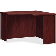 "HON BL Corner Unit, 36"" - 36"" x 42"" x 29"" - Flat Edge - Finish: Mahogany Top, Thermofused Laminate (TFL) Top"