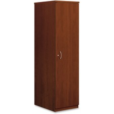 "HON BL Wardrobe Cabinet 65""H - 18"" x 24"" x 66"" - Drawer(s)1 Door(s) - Square Edge - Finish: Medium Cherry, Thermofused Laminate (TFL)"