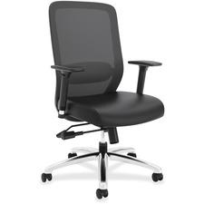 HON Exposure Mesh High-Back Task Chair - Leather Seat - High Back - 5-star Base - 1 Each