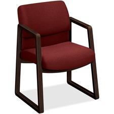 HON 2403MOCHAB62 HON 2400 Series Hardwood Sled Base Guest Chair HON2403MOCHAB62