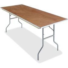 ICE 56220 Iceberg Natural Plywood Rectangular Folding Table ICE56220